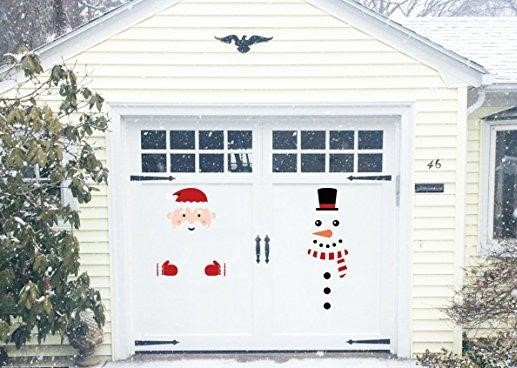 Resdential white color garage door